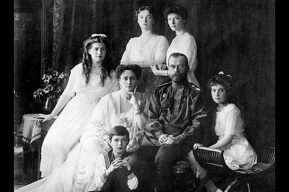 Николай II и его семья в 1913 году
