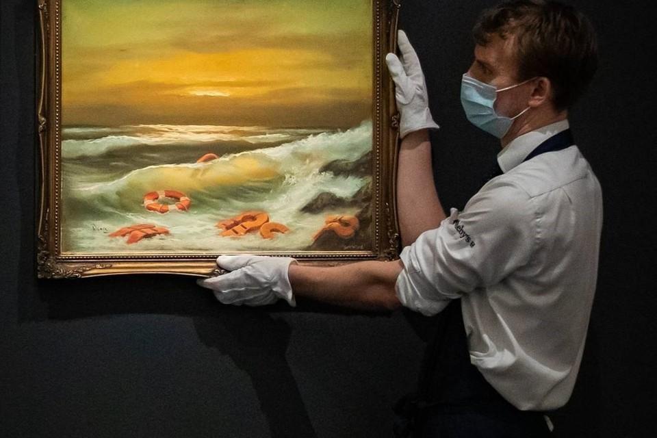 Триптих Бэнкси продали на аукционе в Лодоне за 2,9 миллиона долларов. Фото: PA via Reuters