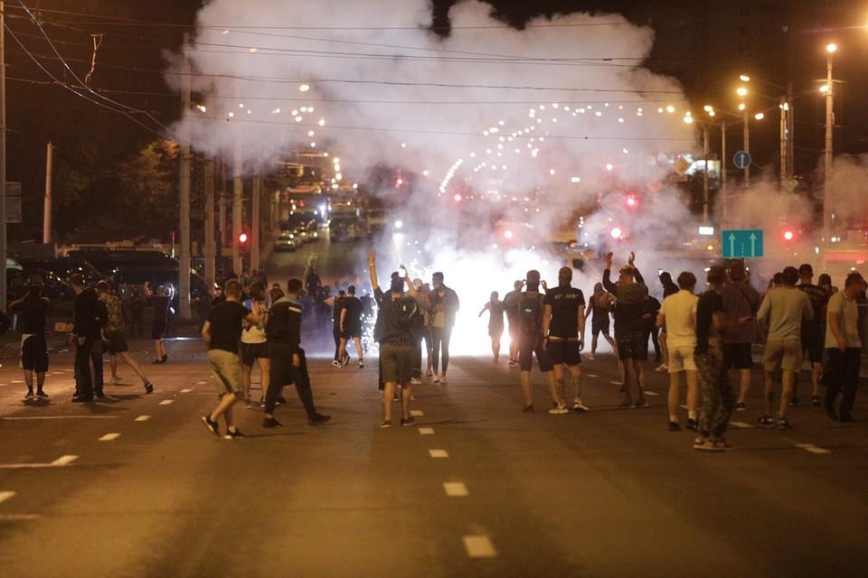В центре Бреста столкновения активистов и силовиков