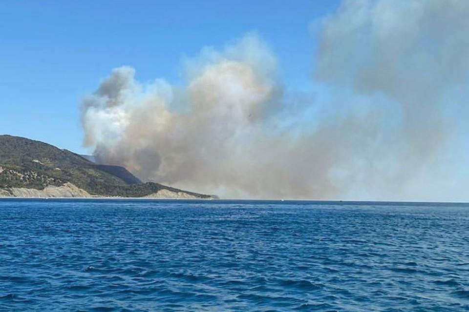 Дым от пожара виден за несколько километров. Фото: t.me/anapame