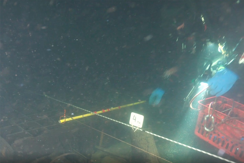 Уникальное судно, пролежавшее на дне Финского залива порядка трех веков, исследователи ЦПИ РГО нашли год назад. Фото: РГО