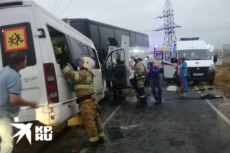 Фото с места ДТП. Фото: ГУ МЧС по Краснодарскому краю.
