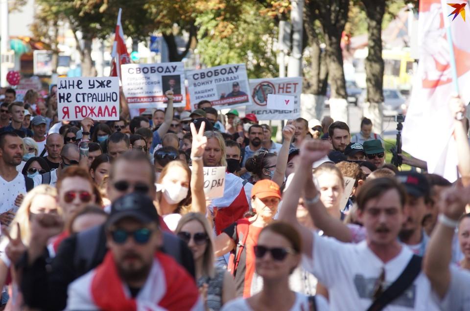 В Гомеле 6 сентября прошло массовое шествие