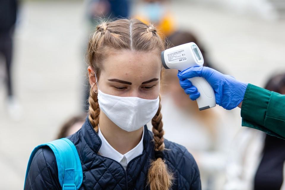Сейчас ежедневно на входе в школу у детей измеряют температуру.