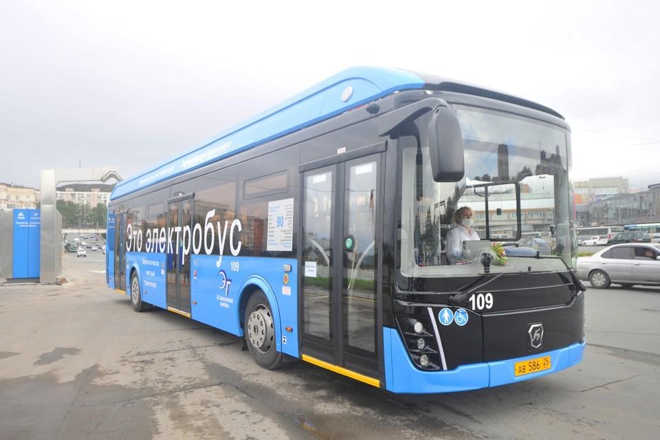 Во Владивостоке появились два электробуса.