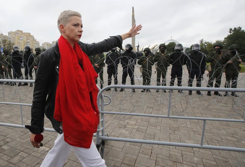 Мария Колесникова была задержана на Границе Белоруссии и Украины