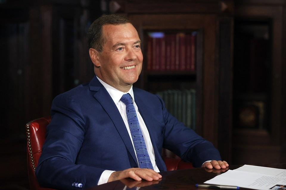 Заместитель председателя Совета безопасности Дмитрий Медведев сегодня отмечает юбилей. Ему исполнилось 55 лет. Фото: Екатерина Штукина/POOL/ТАСС