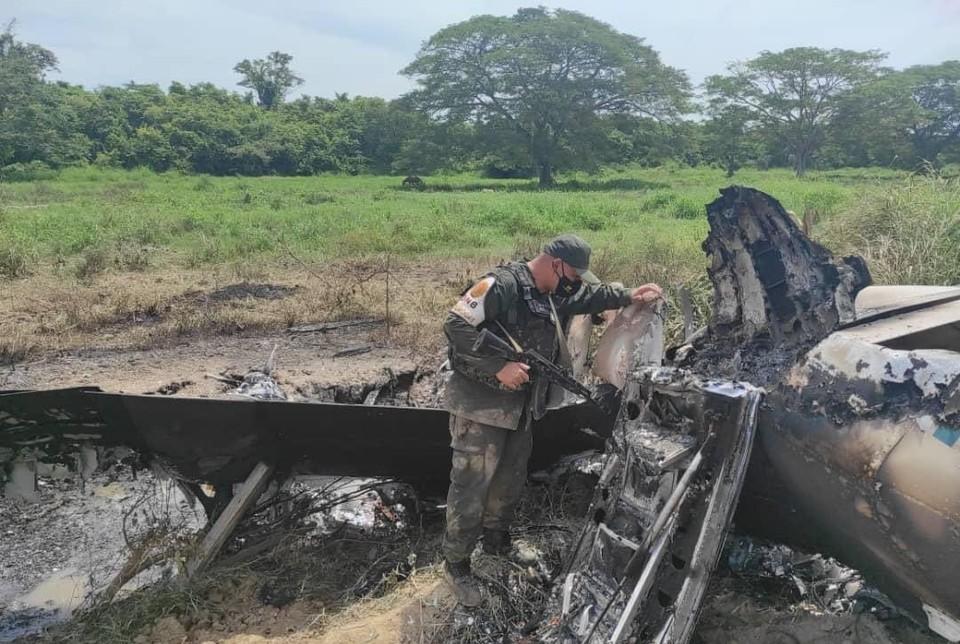 Фото с места происшествия. Фото: Твиттер министра обороны Венисуэлы