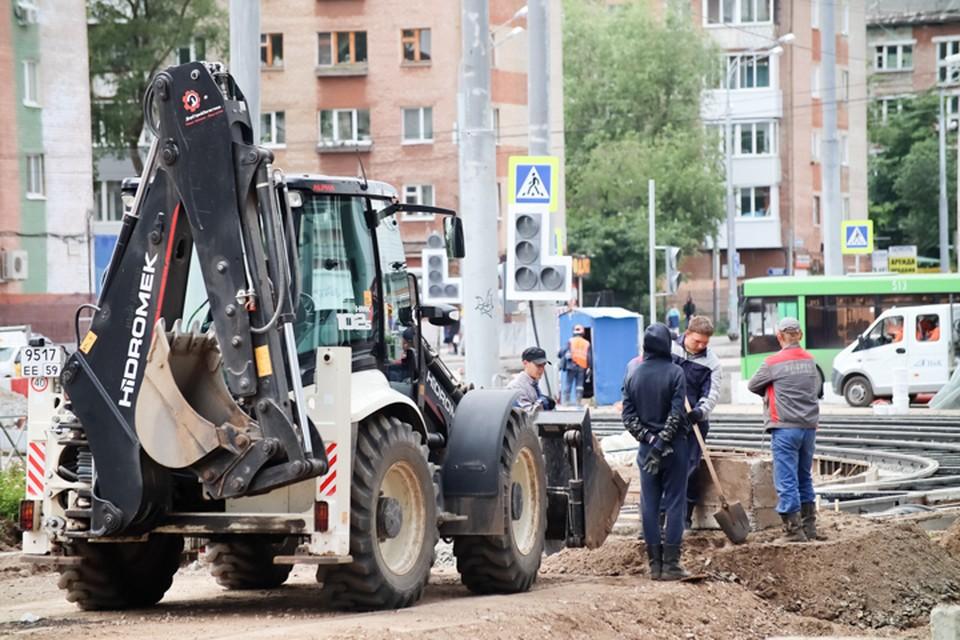 Идет строительство дорог