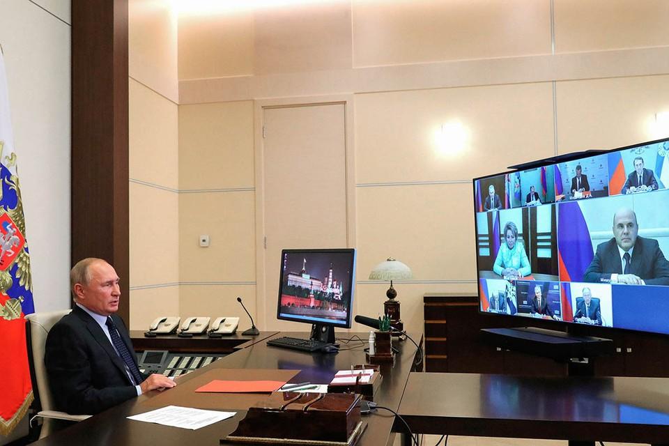 Президент обсудил свое выступление на Генассамблее ООН. Фото: Михаил Климентьев/ТАСС