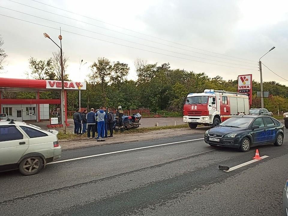 Опубликованы фотографии с места массового ДТП под Нижним Новгородом 19 сентября 2020.