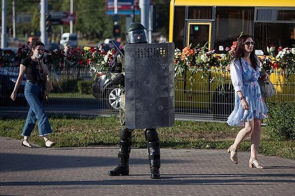 МВД Белоруссии заявило, что силовики в Бресте стреляли в воздух в предупредительных целях