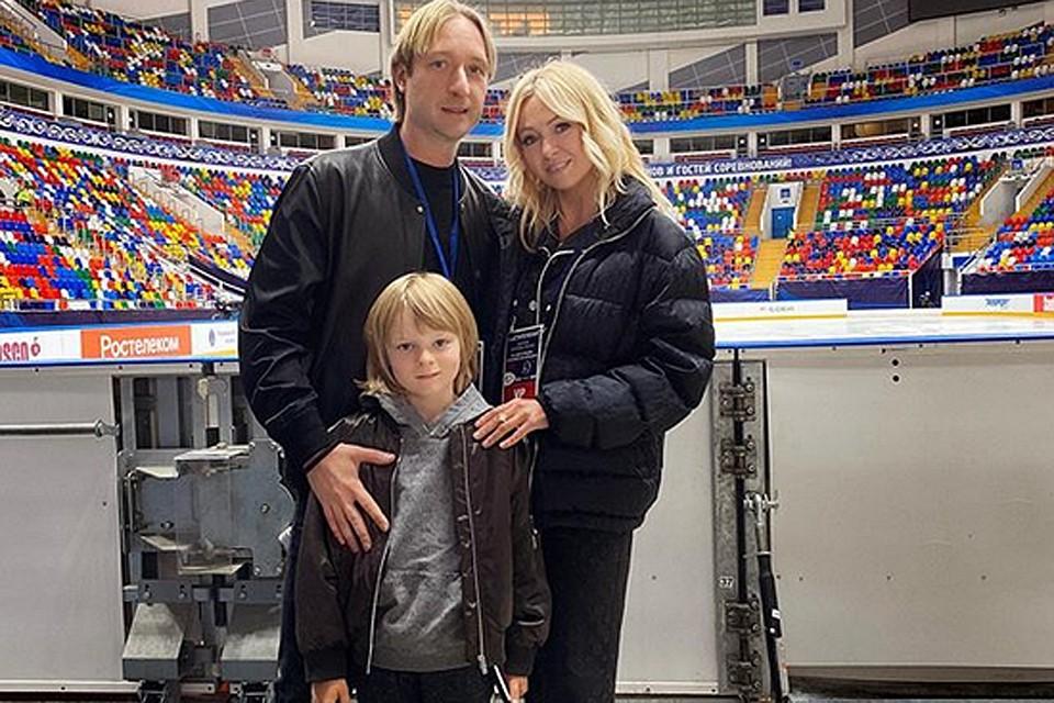 Евгений и его супруга Яна Рудковская мечтают, чтобы их сын повторил судьбу своего отца, стал олимпийским чемпионом