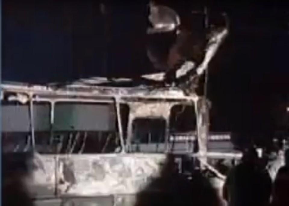 Автобус после взрыва. Фото: ВГТРК.
