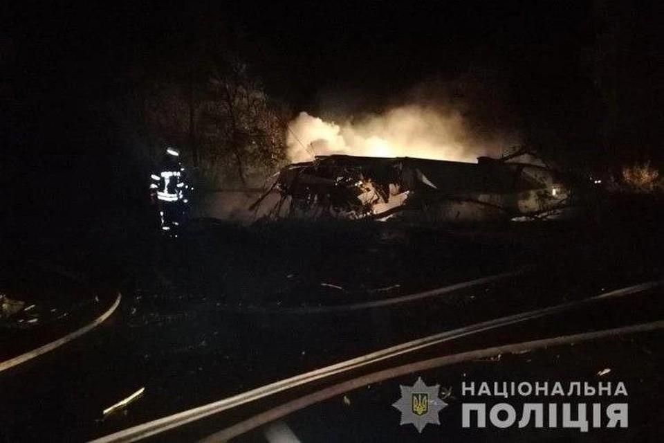 В разбившемся под Харьковом самолёте есть выжившие. Фото: Нацполиция Украины