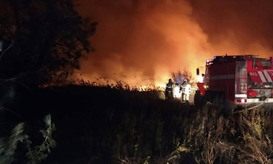 С одним из пожаров спасатели боролись 18 часов. Фото: ГУ МЧС по РО