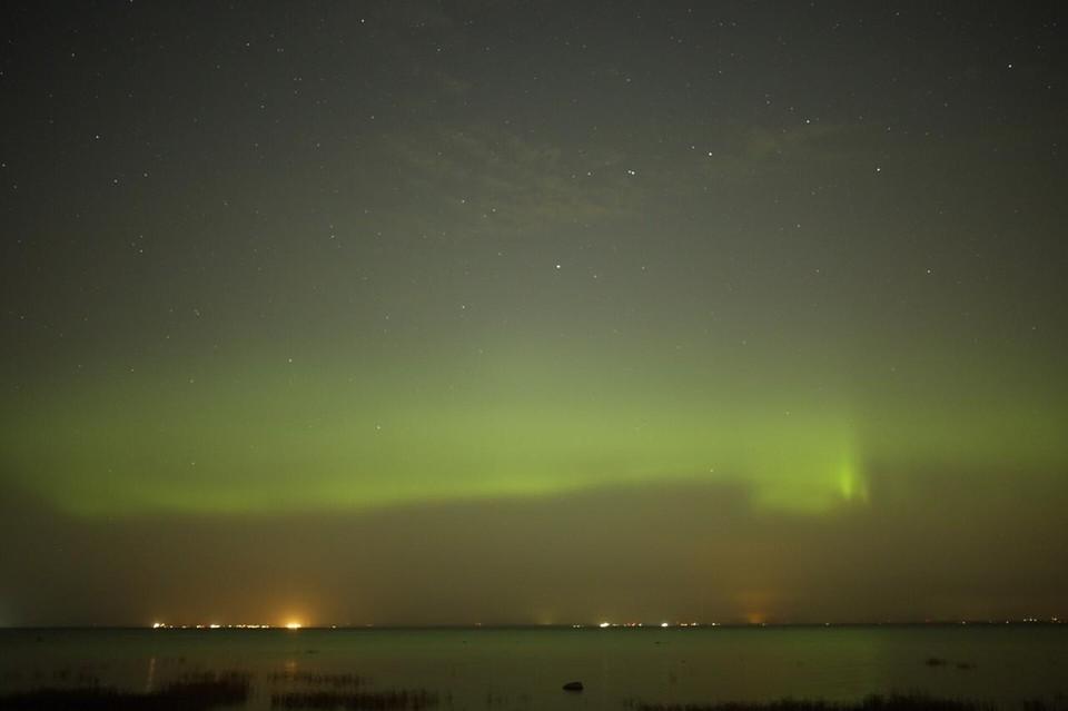 Ярче всего северное сияние было видно из Лебяжьего. Фото: vk.com/aurora812 / Валентина Колесникова