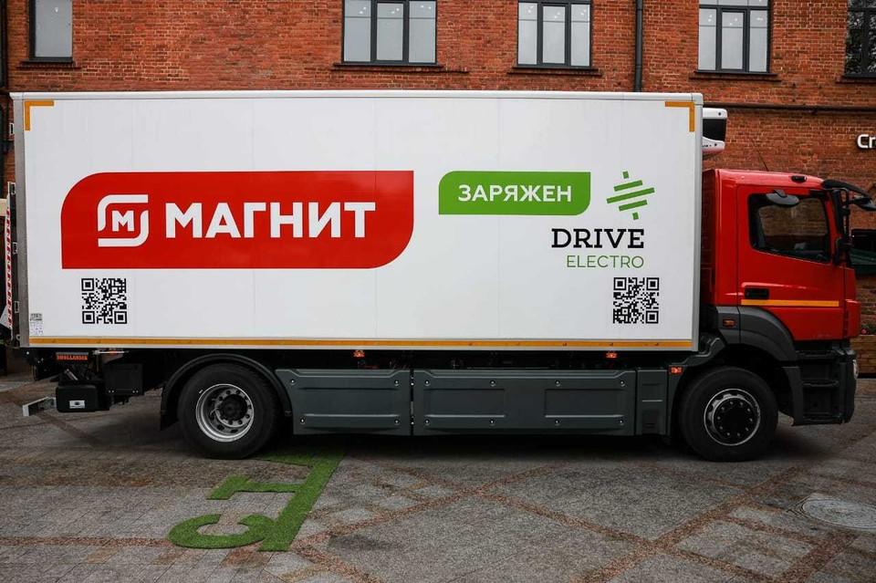 Drive Electro передала первый российский электрогрузовик для эксплуатации сети «Магнит»