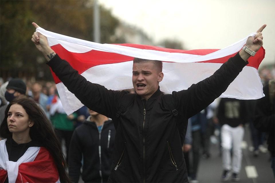 Участники шествия оппозиции в Минске, 27 сентября 2020 г.