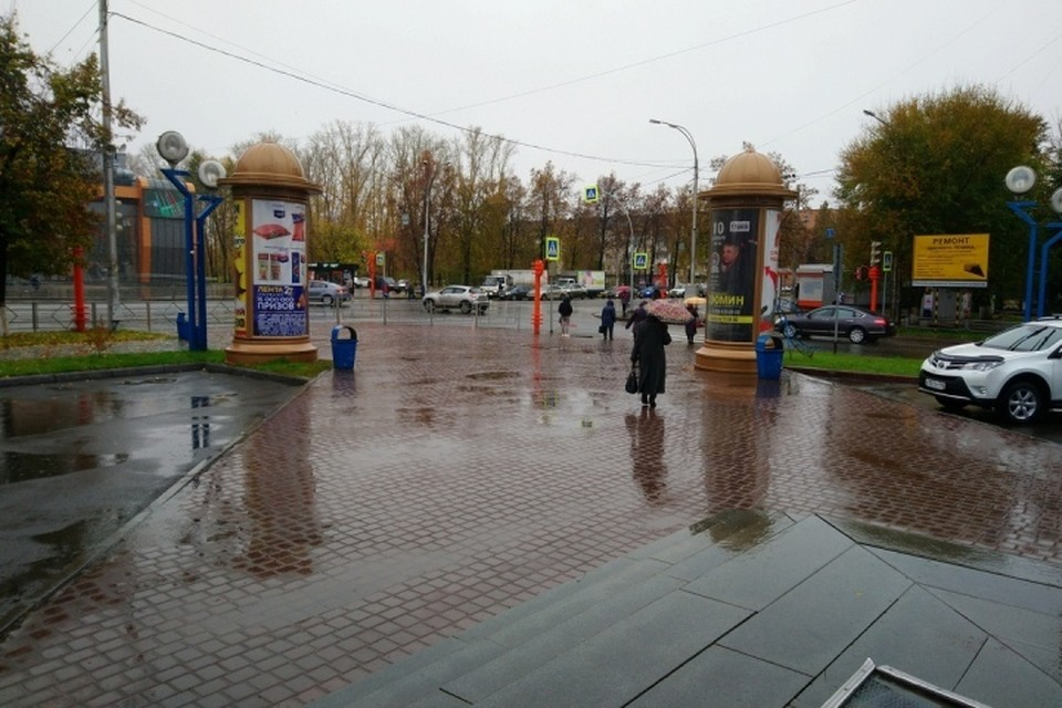 Появилось видео первого снега в Кемерове