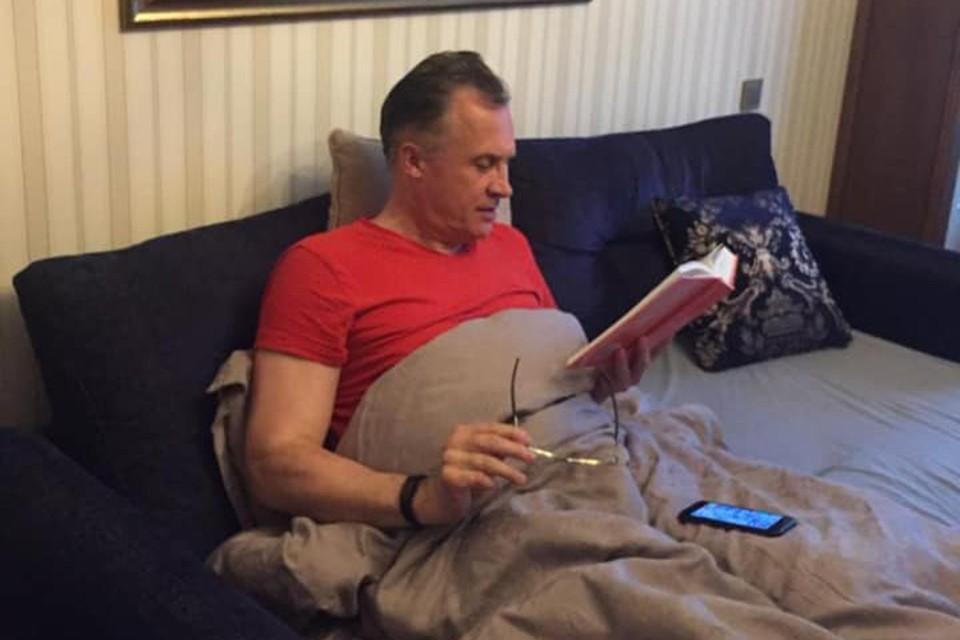 Сейчас Андрей Савиных на больничном дома. Фото: соцсети / Андрей Савиных