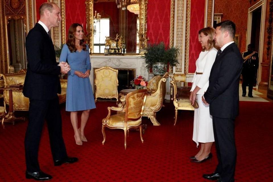 Герцог и герцогиня Кембриджские приняли Зеленского и его супругу Елену в Букингемском дворце