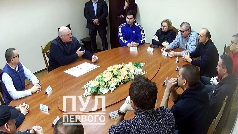 Лукашенко встретился в СИЗО КГБ с Виктором Бабарико и другими членами КС и штаба Бабарико. Фото: телеграм-канал Пул Первого.