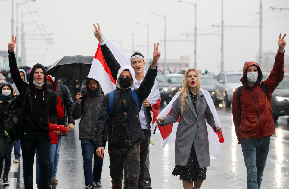 В воскресенье, 11 октября, в Белоруссии вновь было не спокойно.