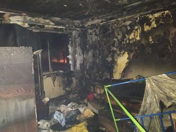 «Мне страшно представить, вернись я на полчаса позже»: В Донецке у многодетной семьи сгорела квартира