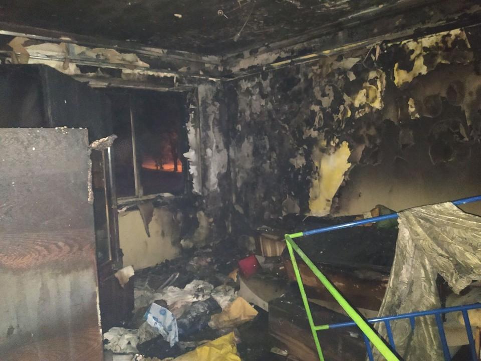 Квартира выгорела за короткое время. Фото: архив семьи Шевченко