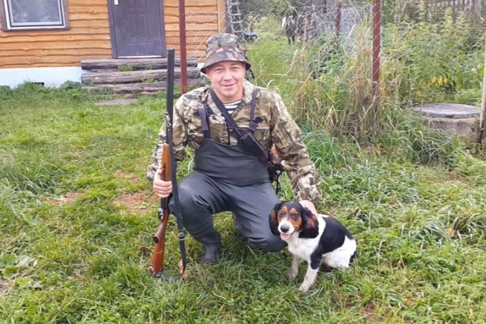 Дмитрий и его боевой пес