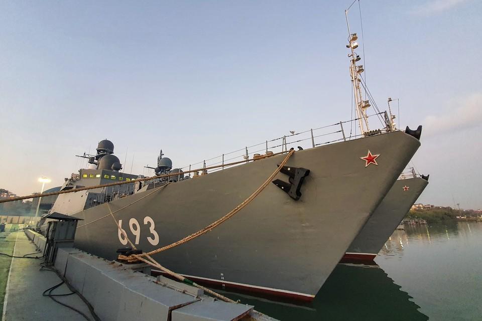Минобороны России провели учения в Каспийском море. Фото: Александр Липур/Минобороны РФ/ТАСС