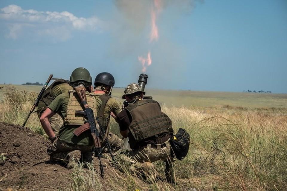 За каждый выстрел из миномета украинские каратели получают по 10 тысяч гривен. Фото: Пресс-центр штаба ООС