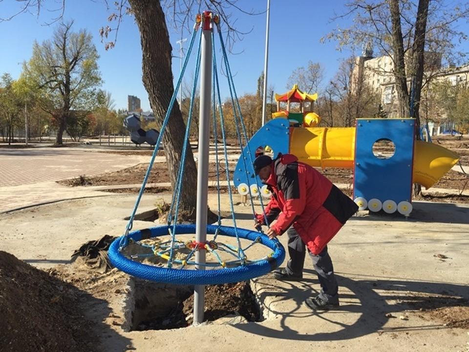 В парке делают детский городок. Фото: мэрия