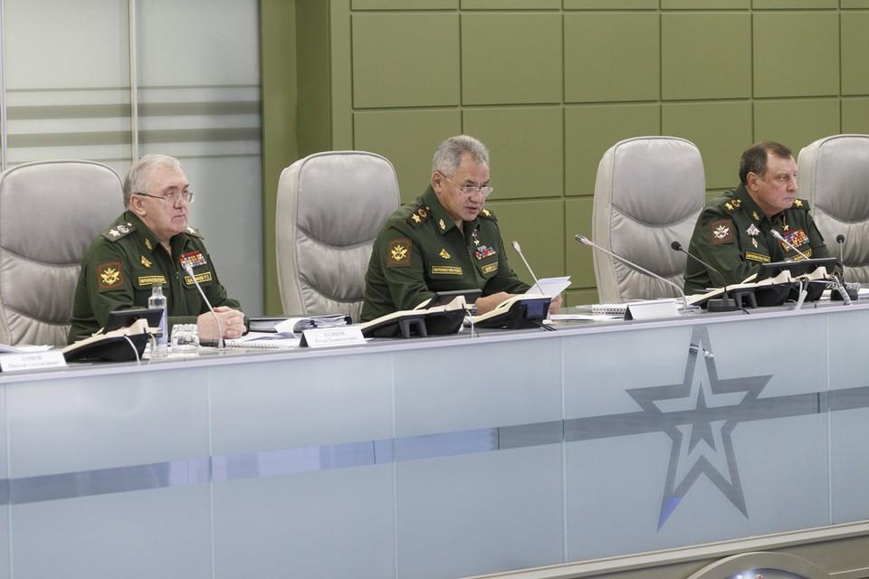 Министр обороны РФ выступил на совещании, где обсуждалось состояние Вооруженных сил страны в период пандемии. Фото: mil.ru