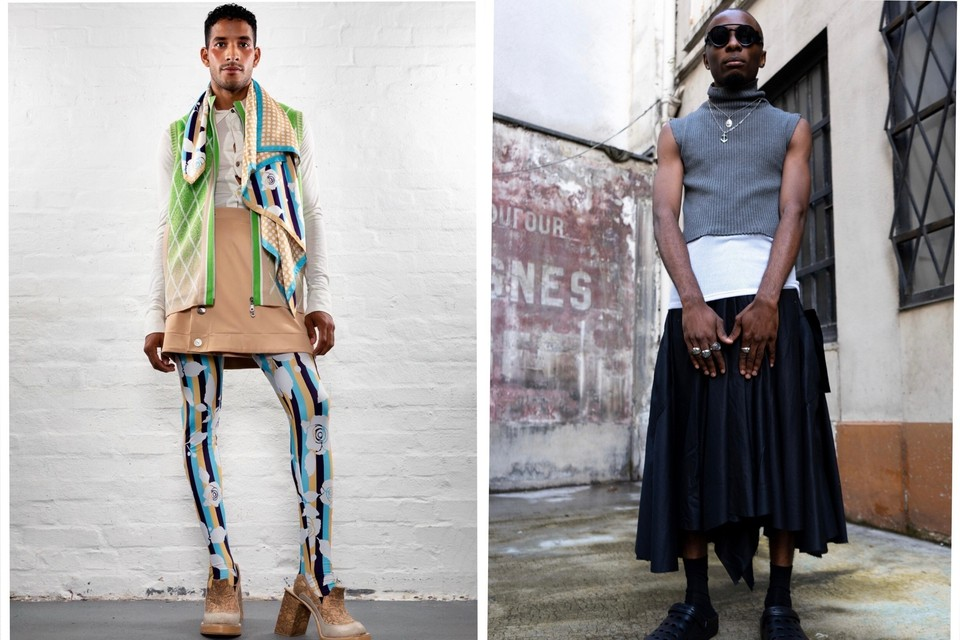 Шок и трепет недели моды: парни в юбках, одежда из старых ковриков и модели с белыми глазами