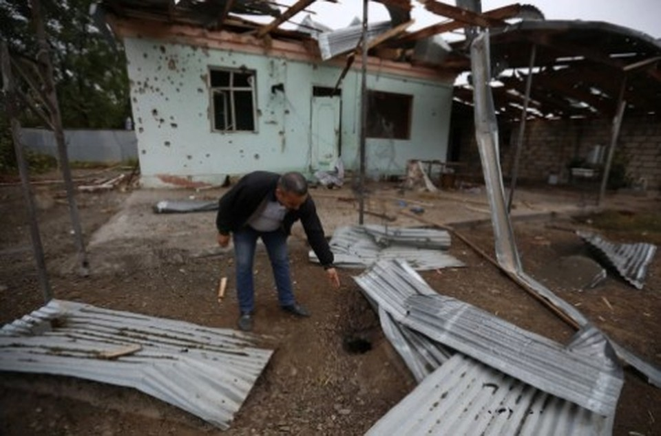 В Азербайджане заявили о гибели россиянина при обстреле Гянджи