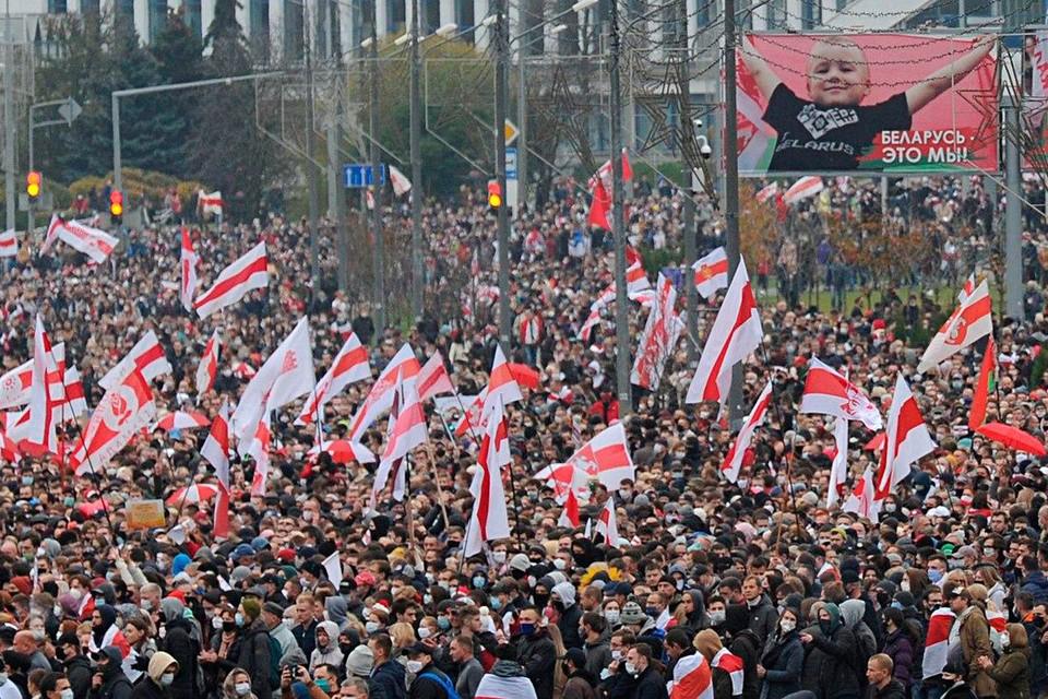 В Минске закончился воскресный марш протеста. Фото: Виктор ПЕТРОВ