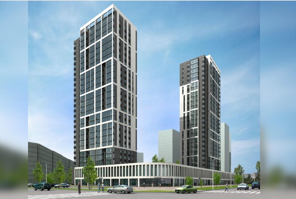 Две башни высотой в 25 этажей вырастут под боком у ледовой аренды. Фото: пресс-служба компании «Трест Магнитострой».