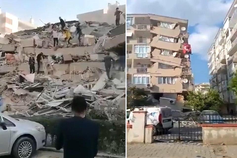 На турецкий Измир обрушилось землетрясение и цунами