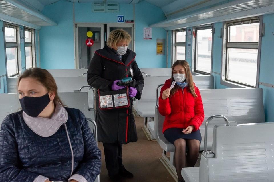 Северо-Западная пригородная пассажирская компания усилила меры по борьбе с вирусами, заботясь о здоровье горожан.