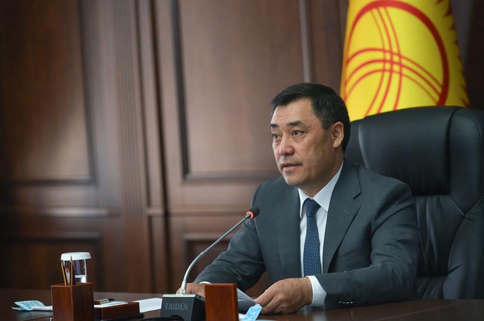 Садыр Жапаров проводит первую большую пресс-конференцию в статусе и.о. президента.