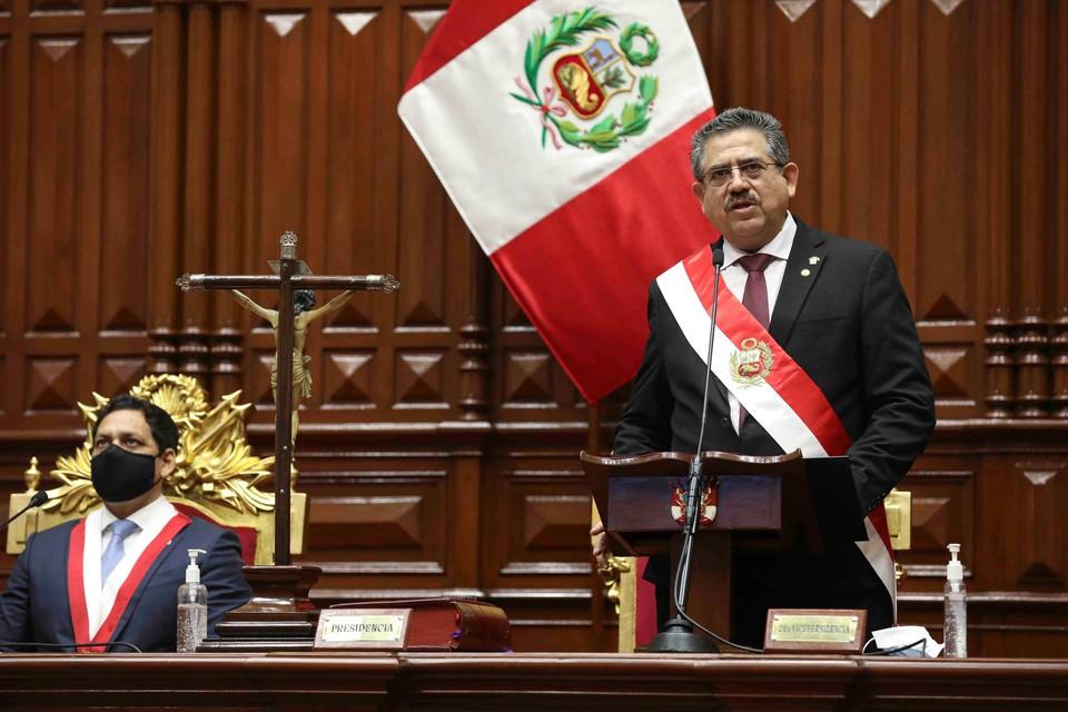 Президент Перу Мануэль Мерино