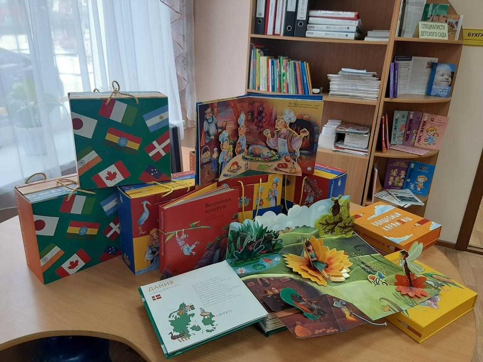 Комплекты книг для слабовидящих получили воспитанники детского сада комбинированного вида и библиотека для слепых
