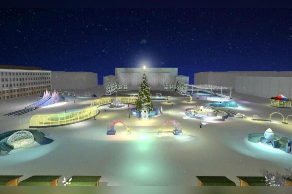Центром ледового городка по традиции станет ель, которую украсят гирляндой. Фото: zakupki.gov.ru