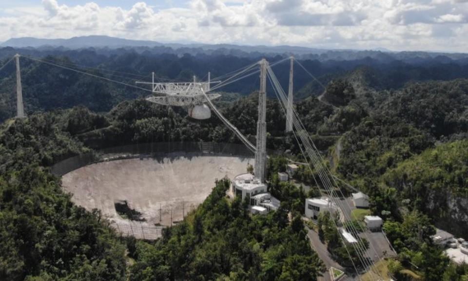 В США собираются разобрать один из крупнейших в мире радиотелескопов. Фото: Национального научного фонда США
