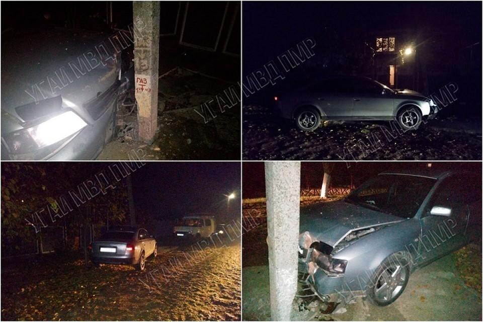 Водитель скрылся с места ДТП (Фото: МВД Приднестровья).