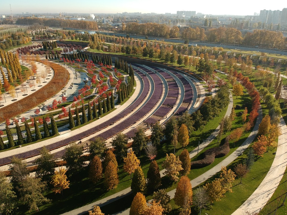 Красочный парк Галицкого за день до зимы. Фото: twitter.com/_johnysimo
