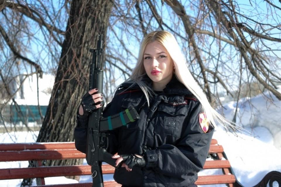 Весной прошлого года об Анне Храмцовой узнала вся страна. Фото: пресс-служба управления Росгвардии по Свердловской области