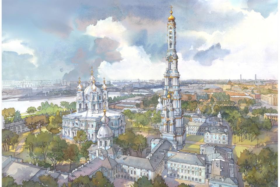 Колокольня могла бы привлечь туристов и оживить экономику района. Иллюстрация: Юлия Михайлова.